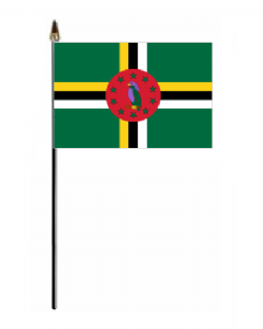 Dominica Country Hand Flag - Small.